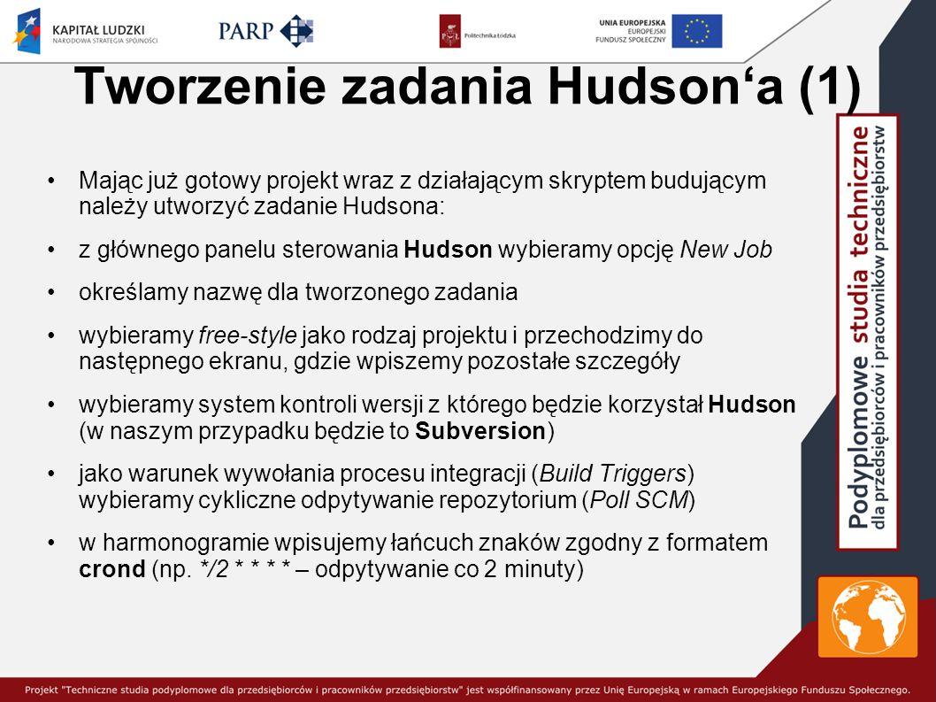 Tworzenie zadania Hudson'a (1)