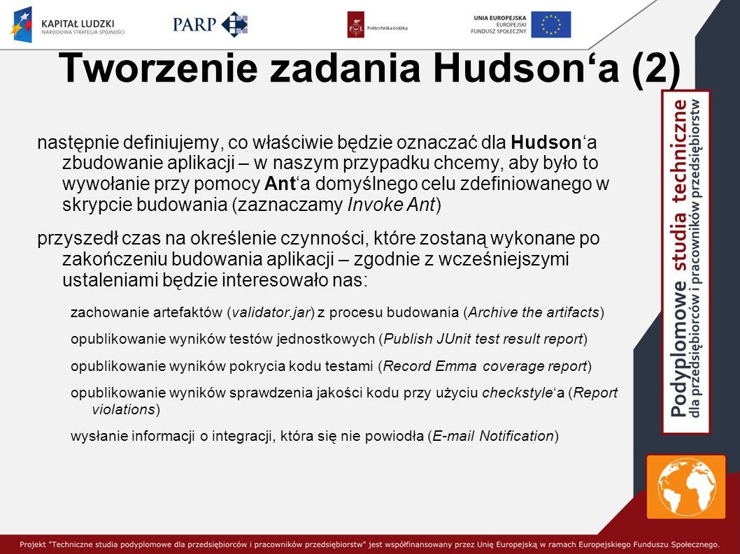 Tworzenie zadania Hudson'a (2)