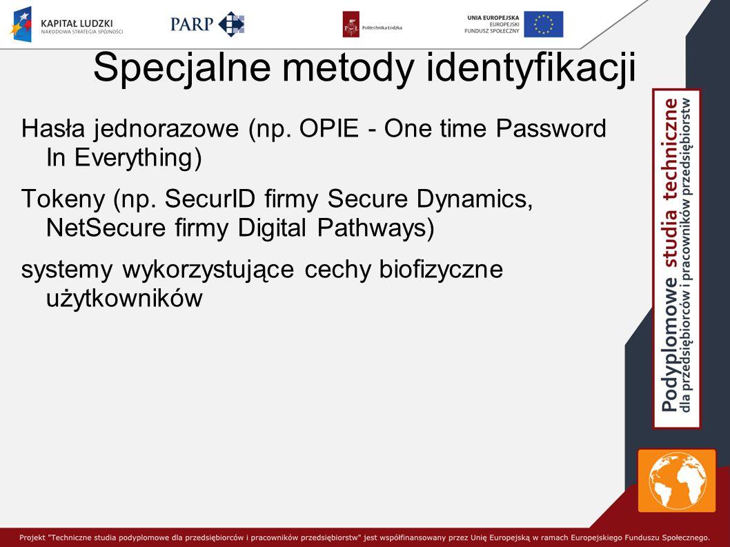 Specjalne metody identyfikacji