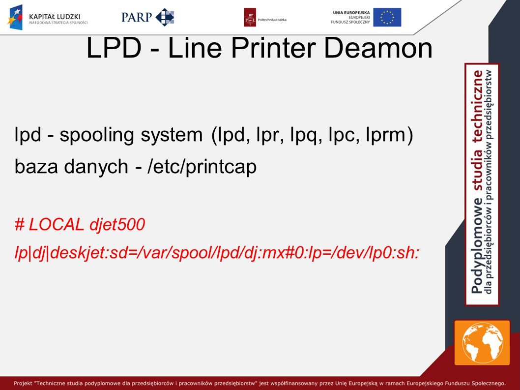 LPD - Line Printer Deamon