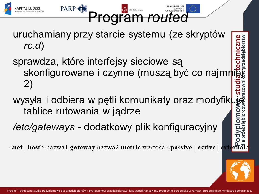 Program routed uruchamiany przy starcie systemu (ze skryptów rc.d)