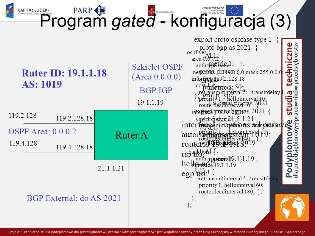 Program gated - konfiguracja (3)