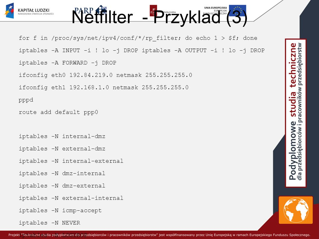 Netfilter - Przyklad (3)