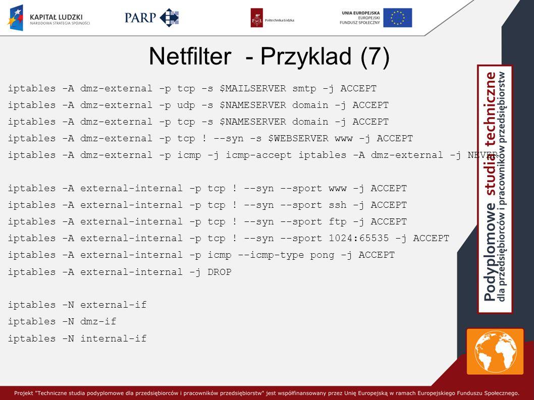 Netfilter - Przyklad (7)
