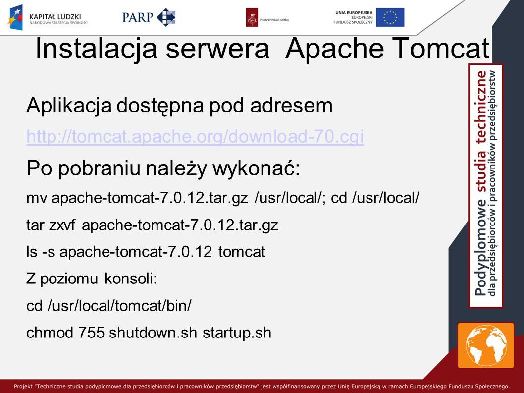 Instalacja serwera Apache Tomcat