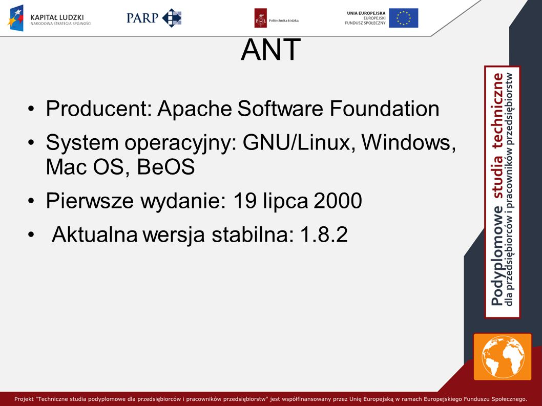 ANT Producent: Apache Software Foundation