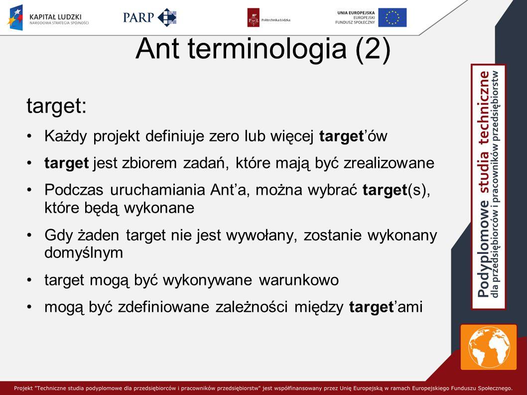Ant terminologia (2) target: