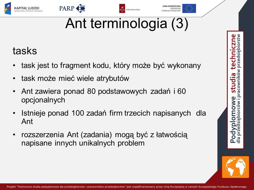 Ant terminologia (3) tasks