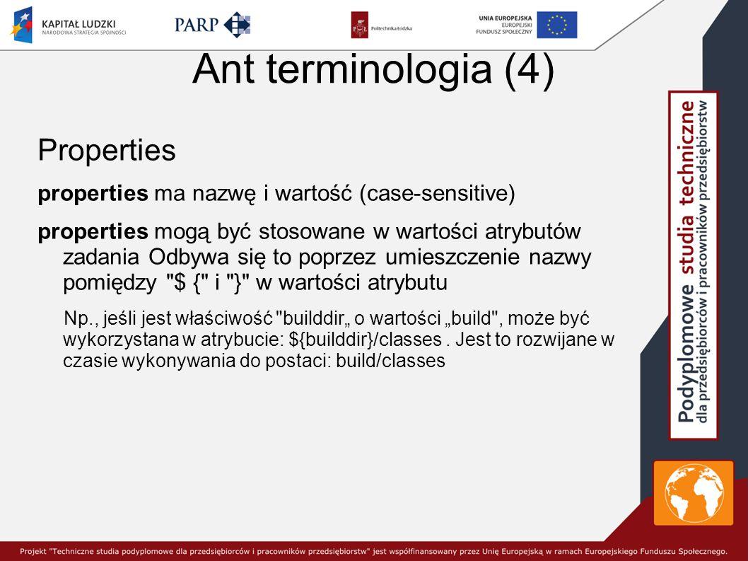 Ant terminologia (4) Properties