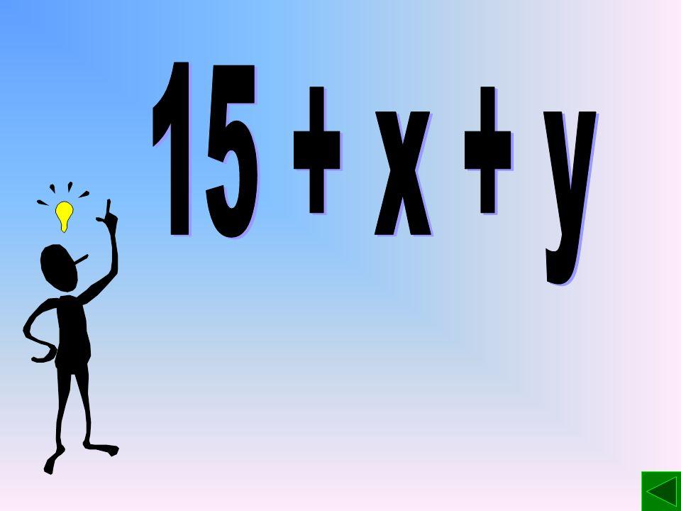 15 + x + y