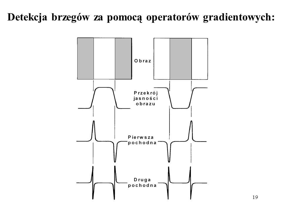 Detekcja brzegów za pomocą operatorów gradientowych: