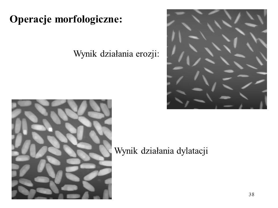 Operacje morfologiczne: