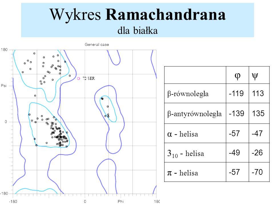 Wykres Ramachandrana dla białka