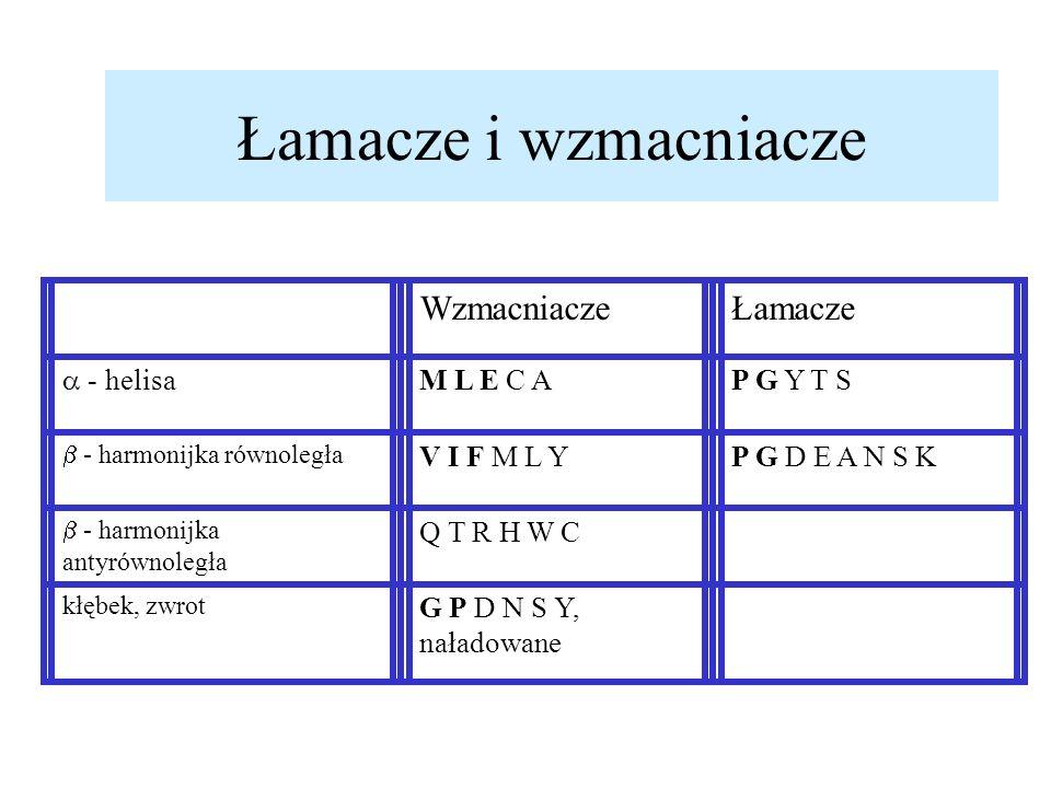Łamacze i wzmacniacze Wzmacniacze Łamacze  - helisa M L E C A