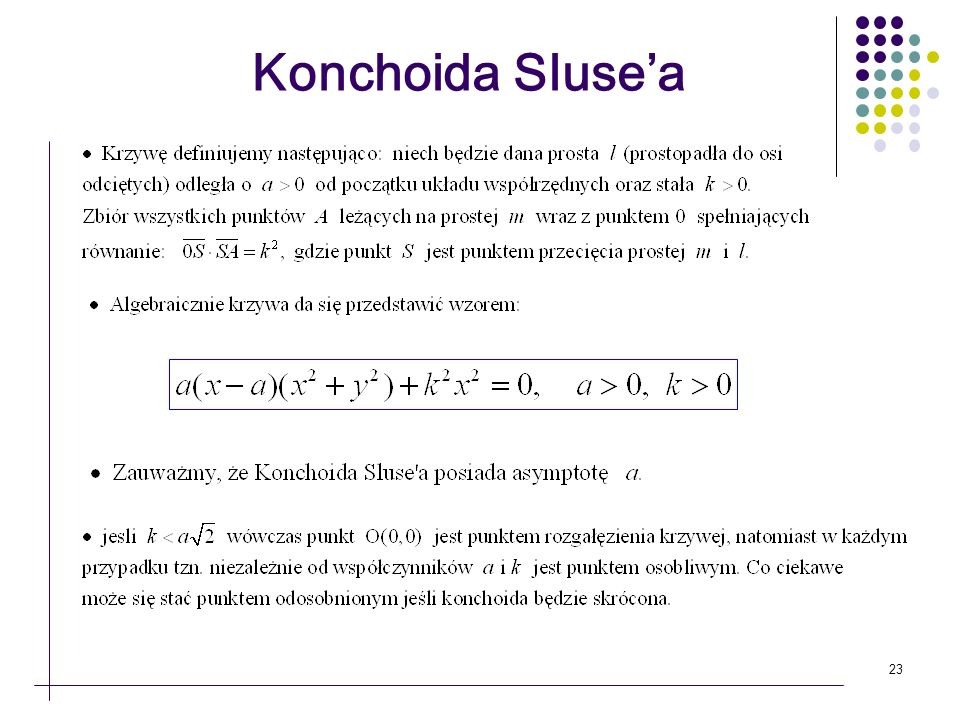 Konchoida Sluse'a