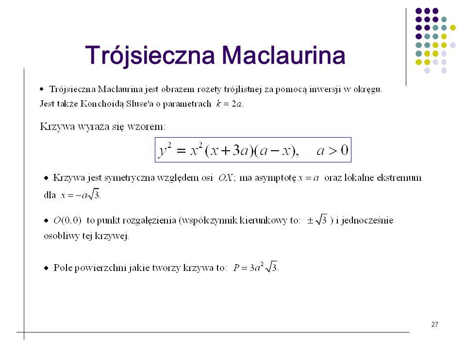 Trójsieczna Maclaurina