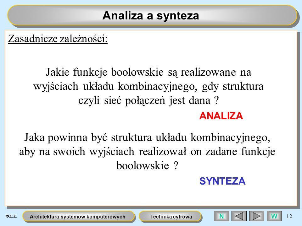 Analiza a syntezaZasadnicze zależności: