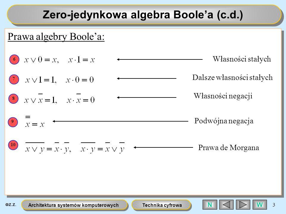 Zero-jedynkowa algebra Boole'a (c.d.)
