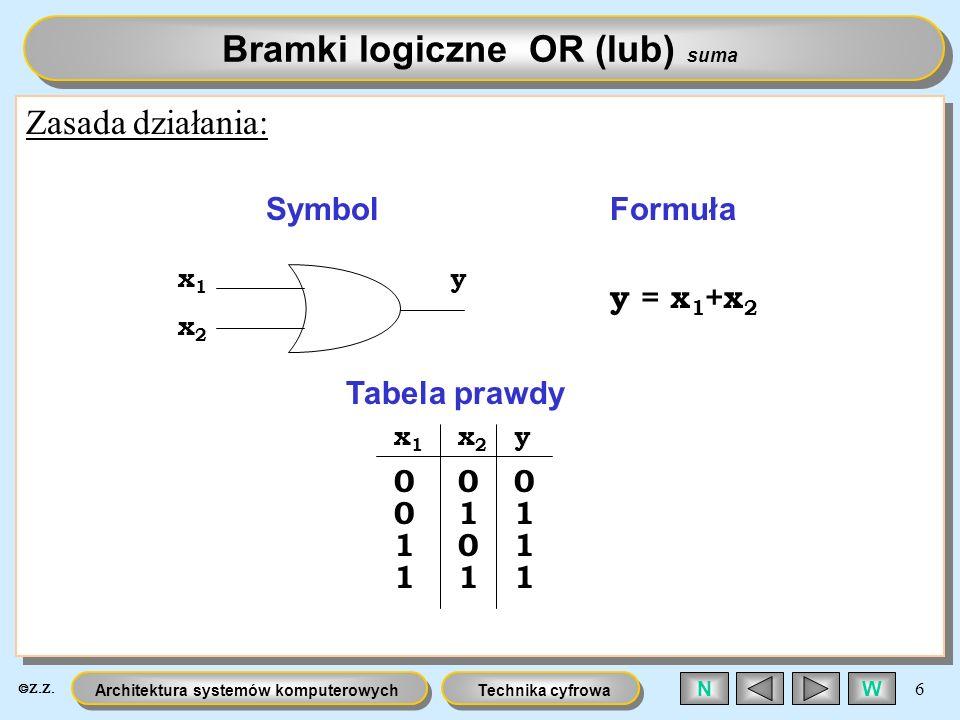 Bramki logiczne OR (lub) suma