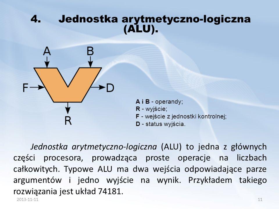 4. Jednostka arytmetyczno-logiczna (ALU).