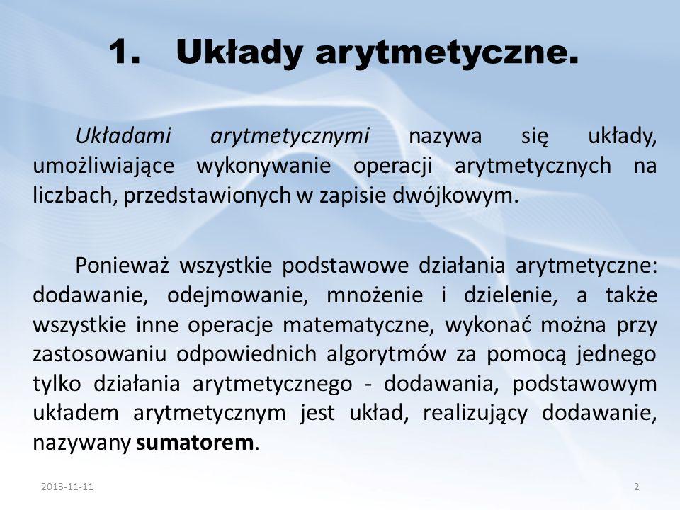 1. Układy arytmetyczne.