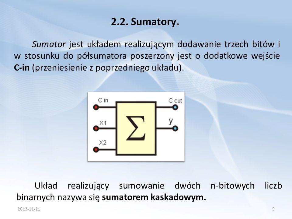 2.2. Sumatory.