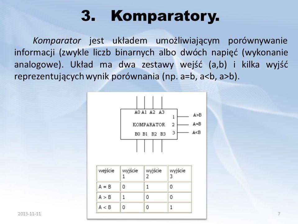3. Komparatory.