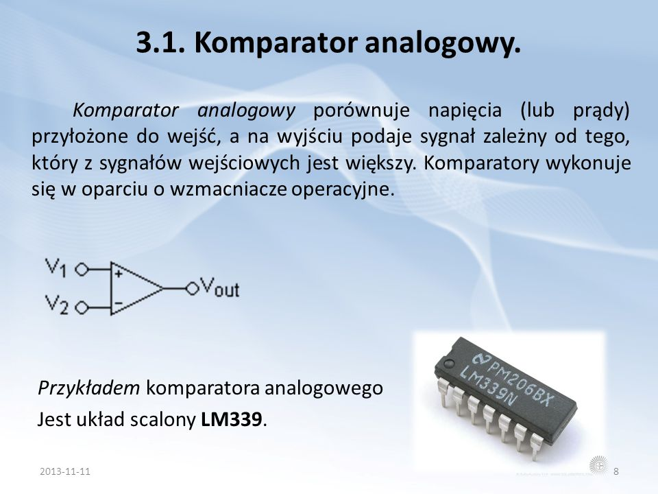 3.1. Komparator analogowy.