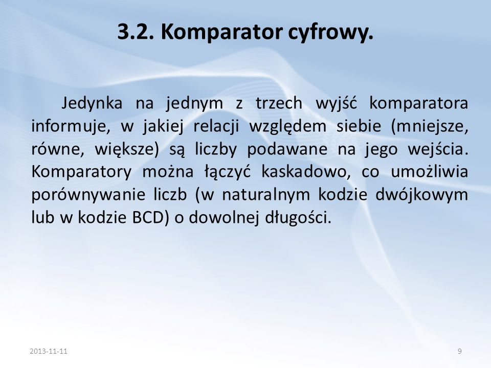 3.2. Komparator cyfrowy.