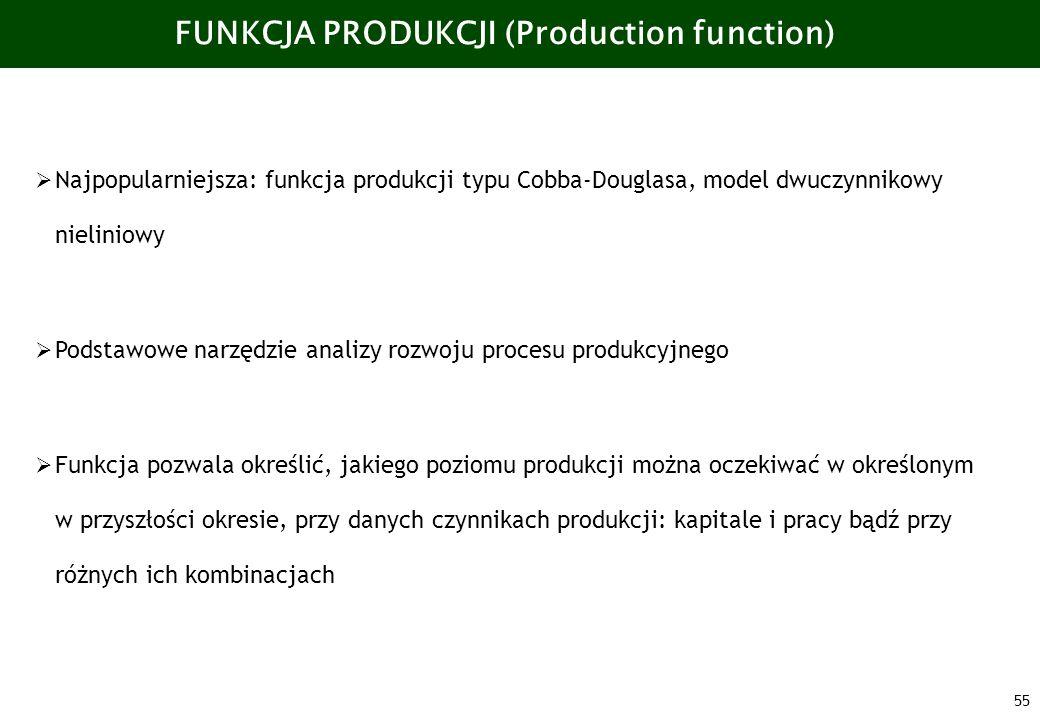 FUNKCJA PRODUKCJI (Production function)