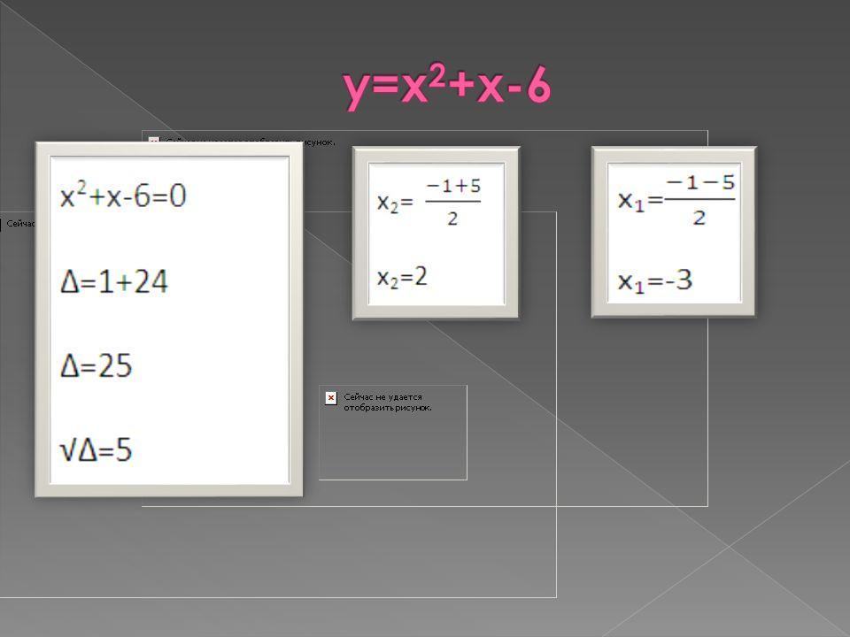 y=x2+x-6