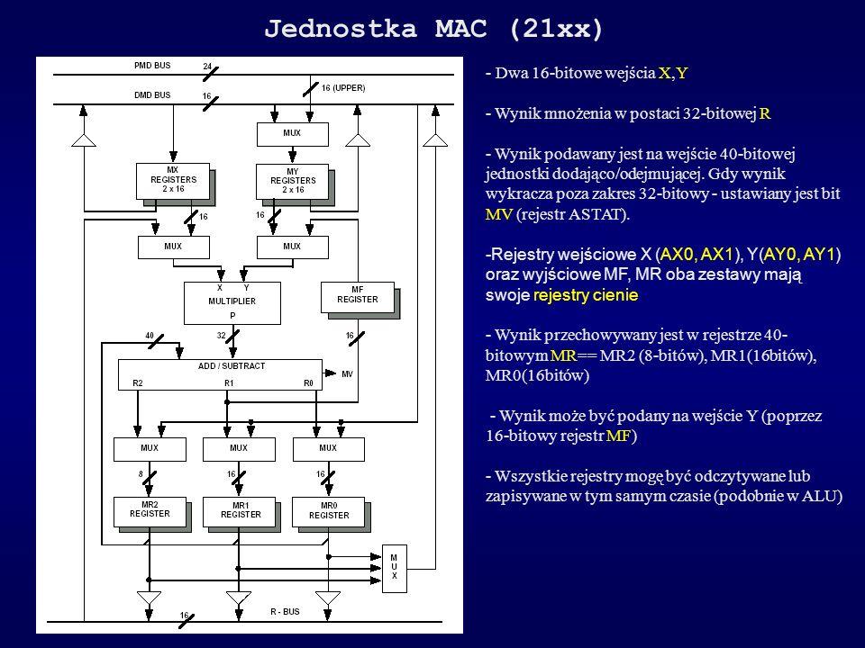 Jednostka MAC (21xx) - Dwa 16-bitowe wejścia X,Y