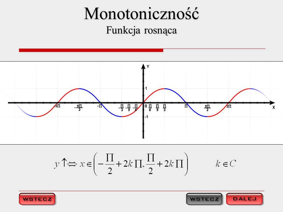 Monotoniczność Funkcja rosnąca