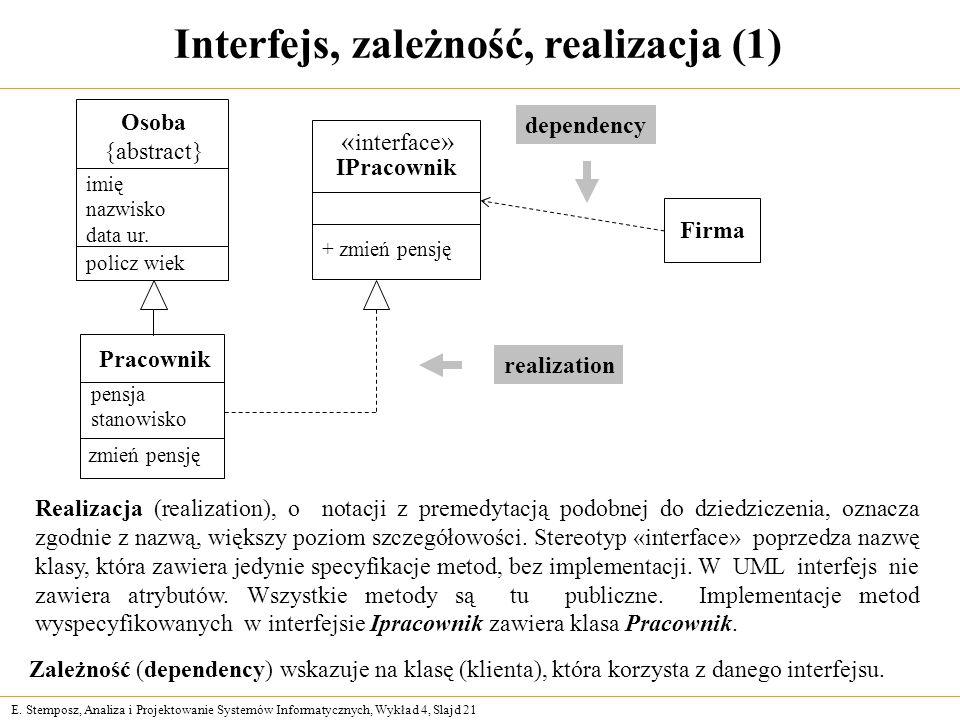 Interfejs, zależność, realizacja (1)