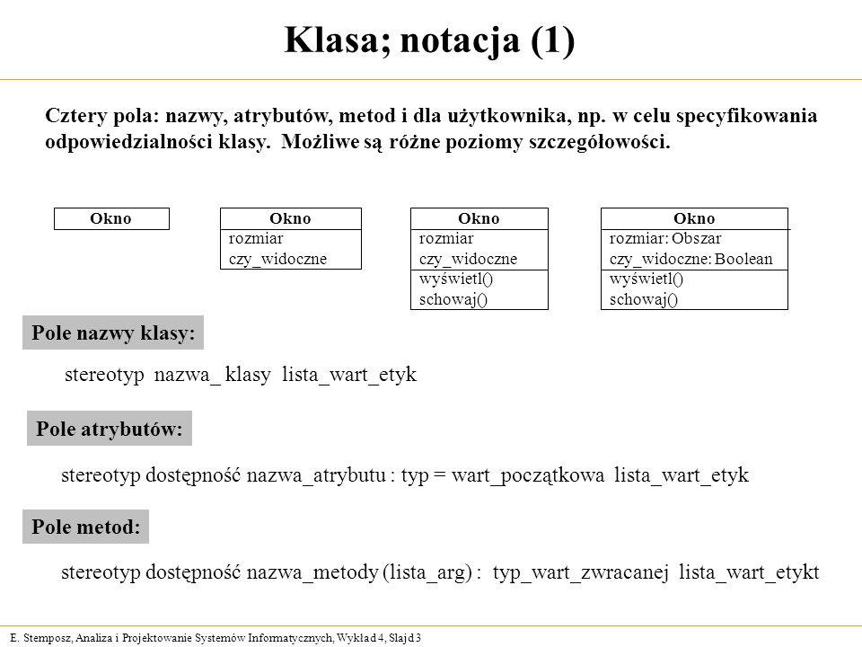 Klasa; notacja (1)