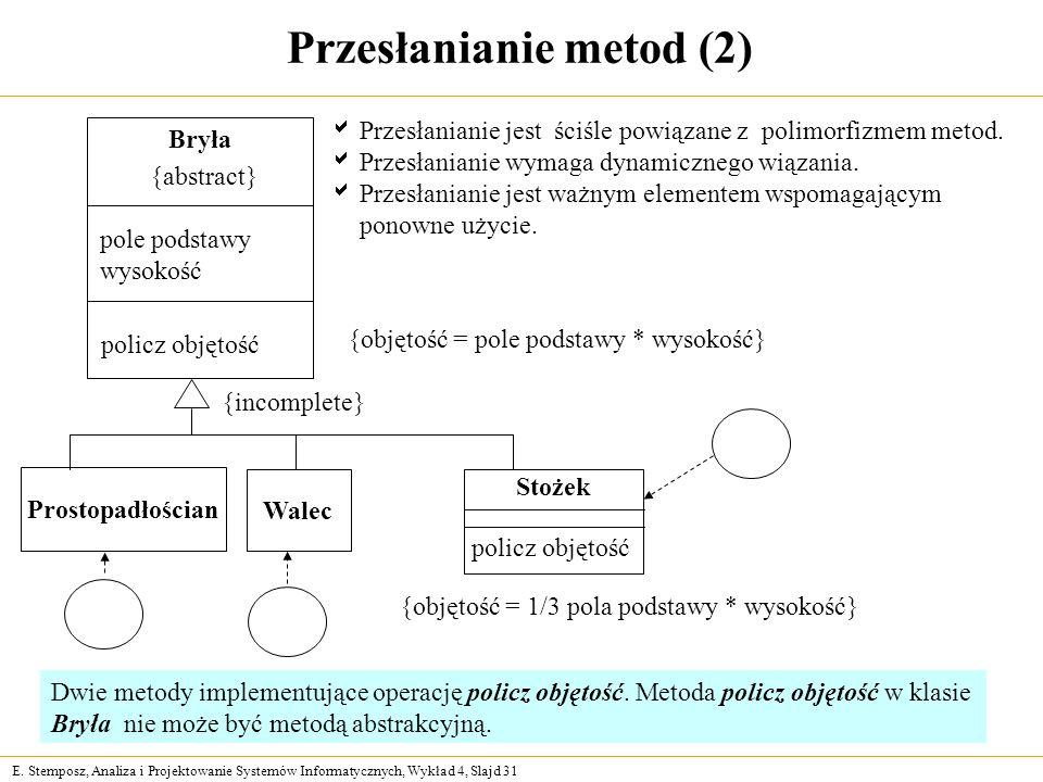 Przesłanianie metod (2)