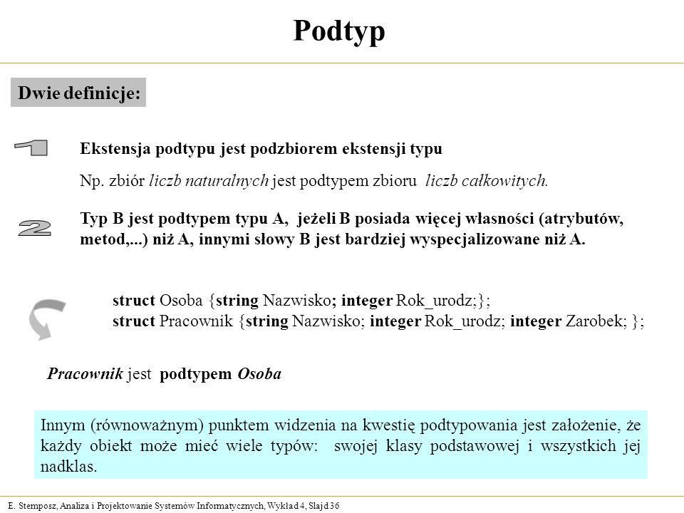 Podtyp 1 2 Dwie definicje: