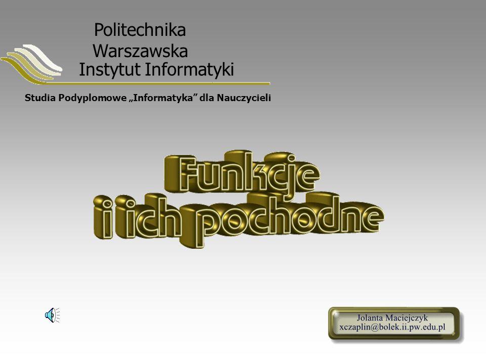 """Studia Podyplomowe """"Informatyka dla Nauczycieli"""