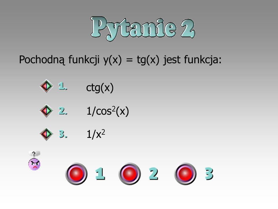 Pochodną funkcji y(x) = tg(x) jest funkcja: