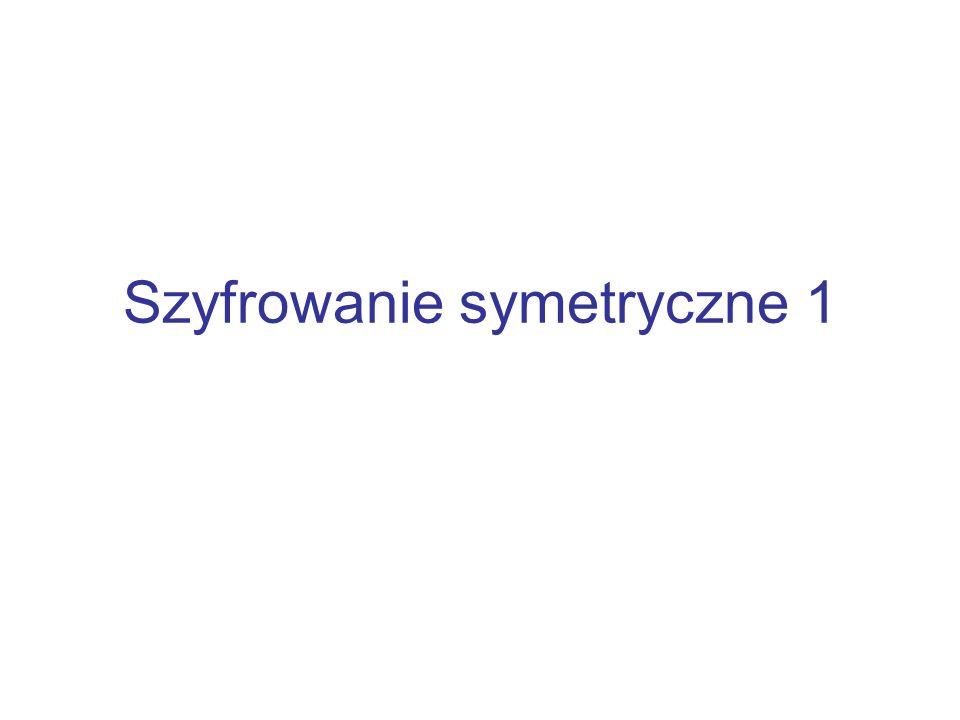 Szyfrowanie symetryczne 1