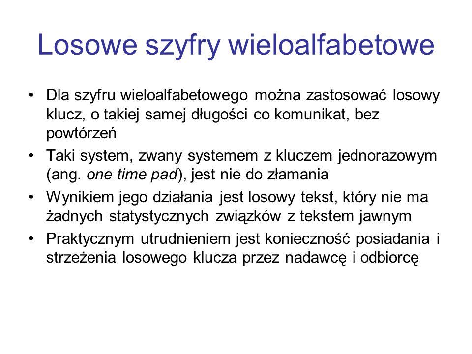 Losowe szyfry wieloalfabetowe