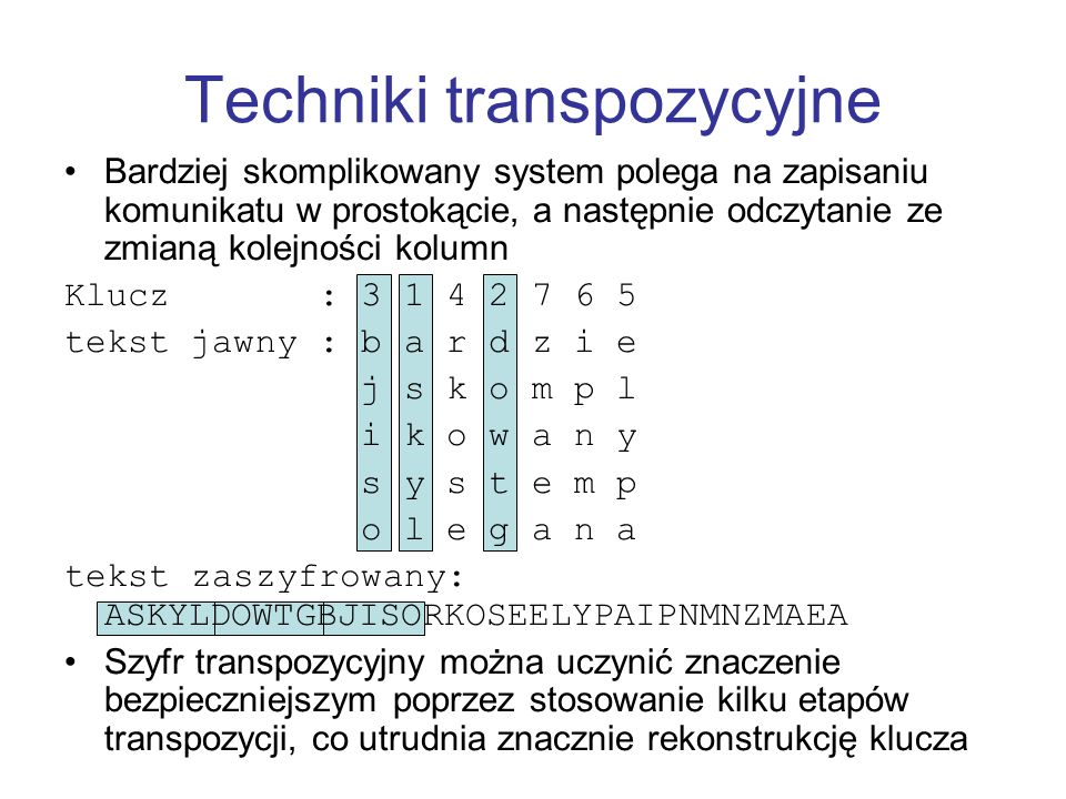 Techniki transpozycyjne