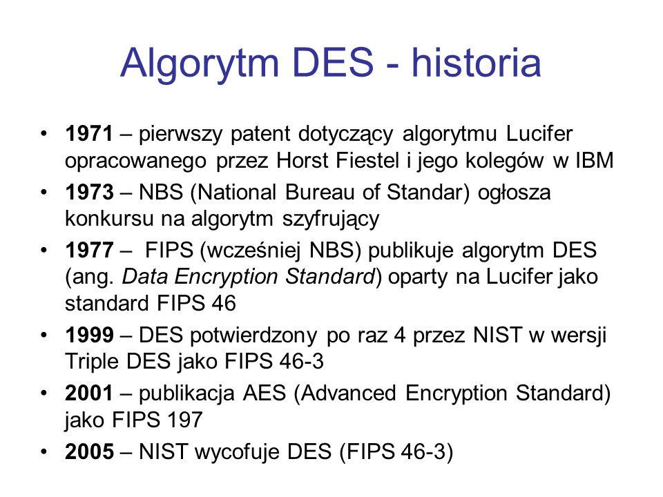 Algorytm DES - historia