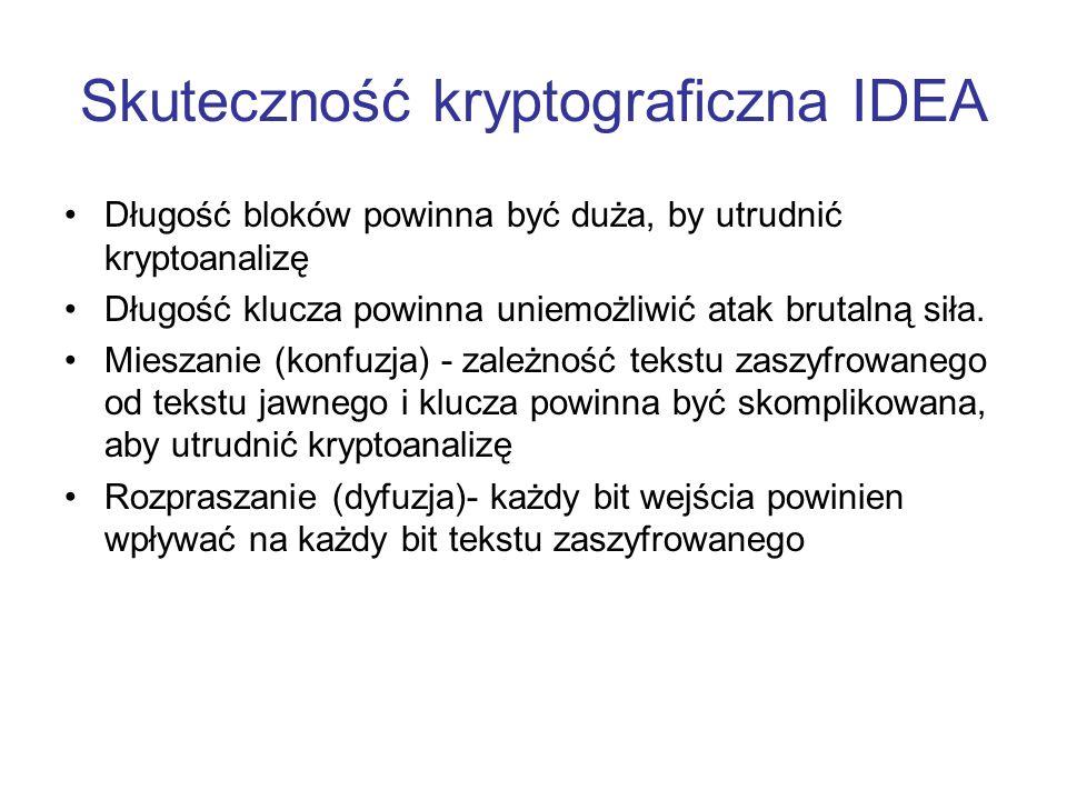 Skuteczność kryptograficzna IDEA