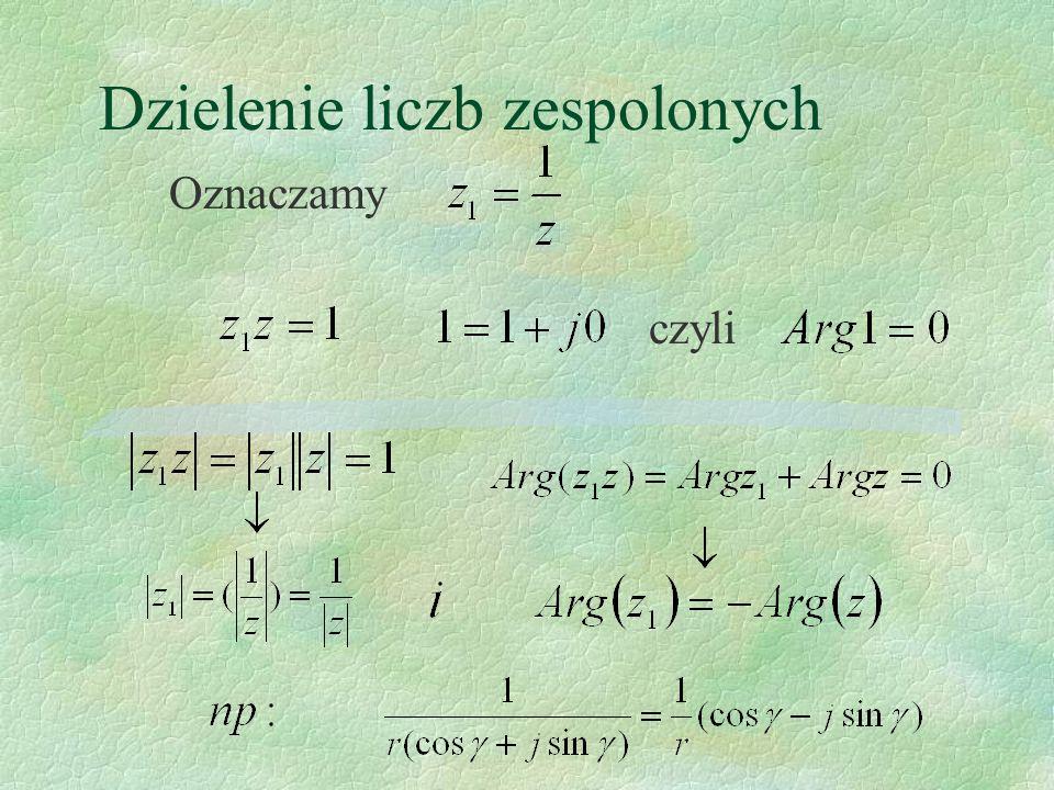 Dzielenie liczb zespolonych