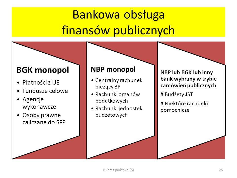 Bankowa obsługa finansów publicznych
