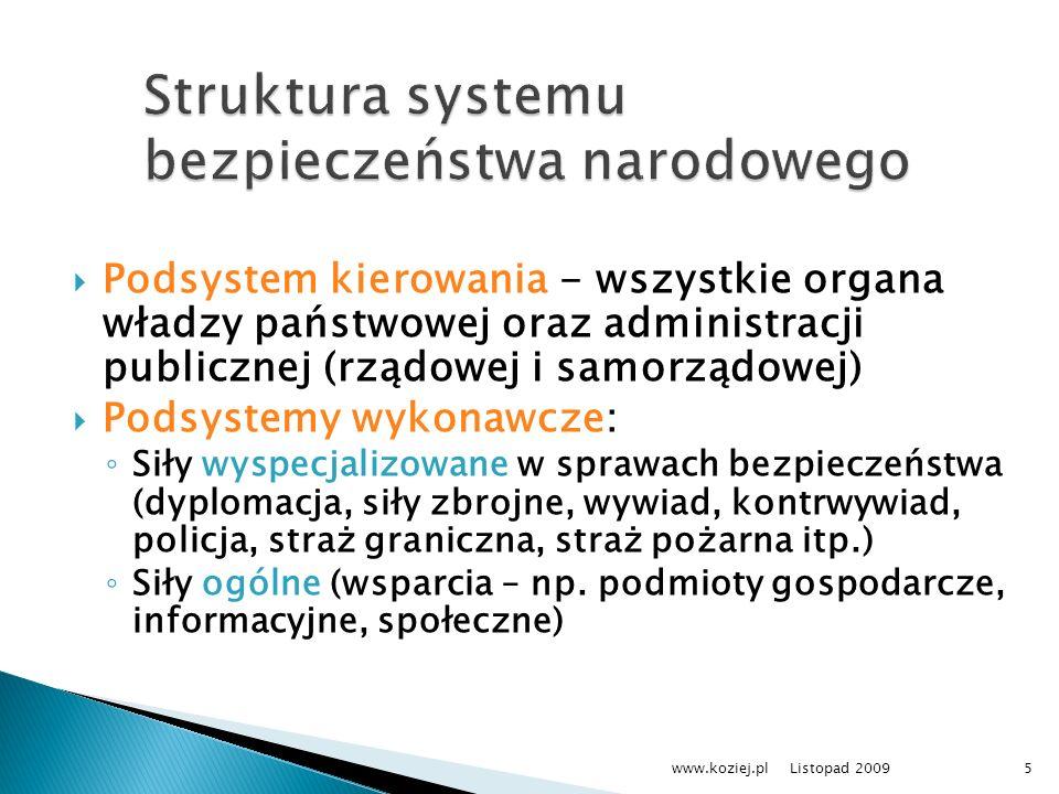 Struktura systemu bezpieczeństwa narodowego
