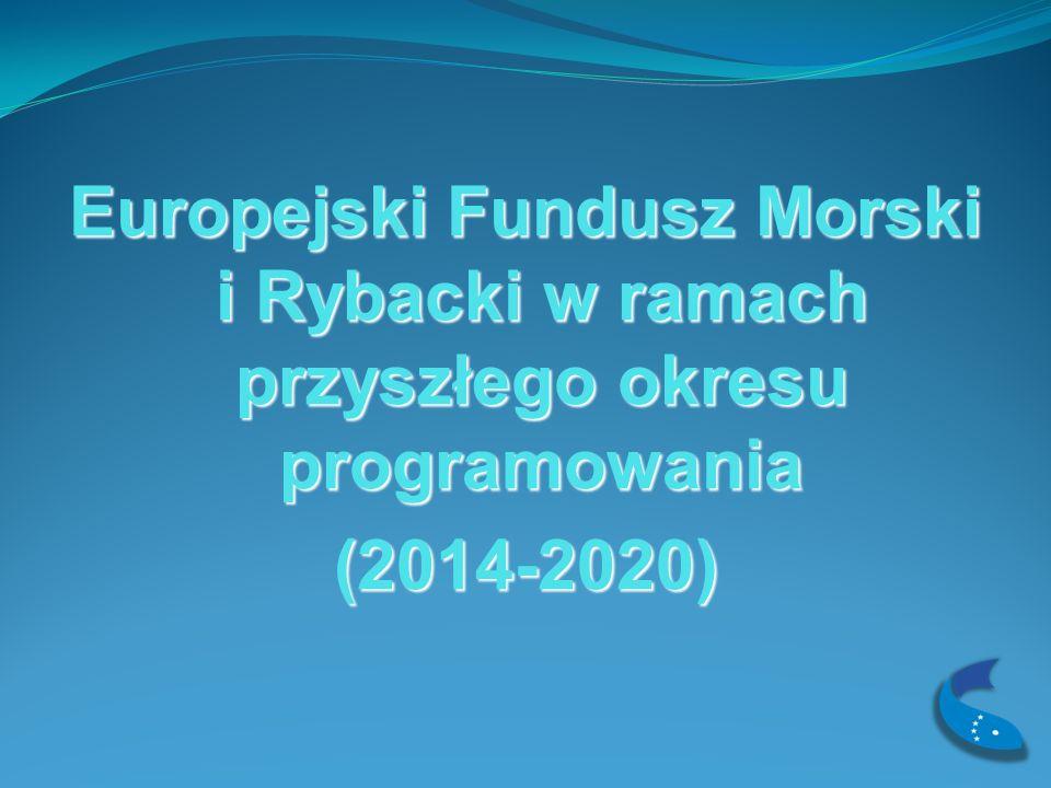 Europejski Fundusz Morski i Rybacki w ramach przyszłego okresu programowania