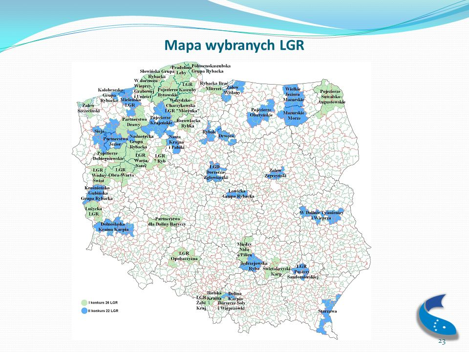Mapa wybranych LGR
