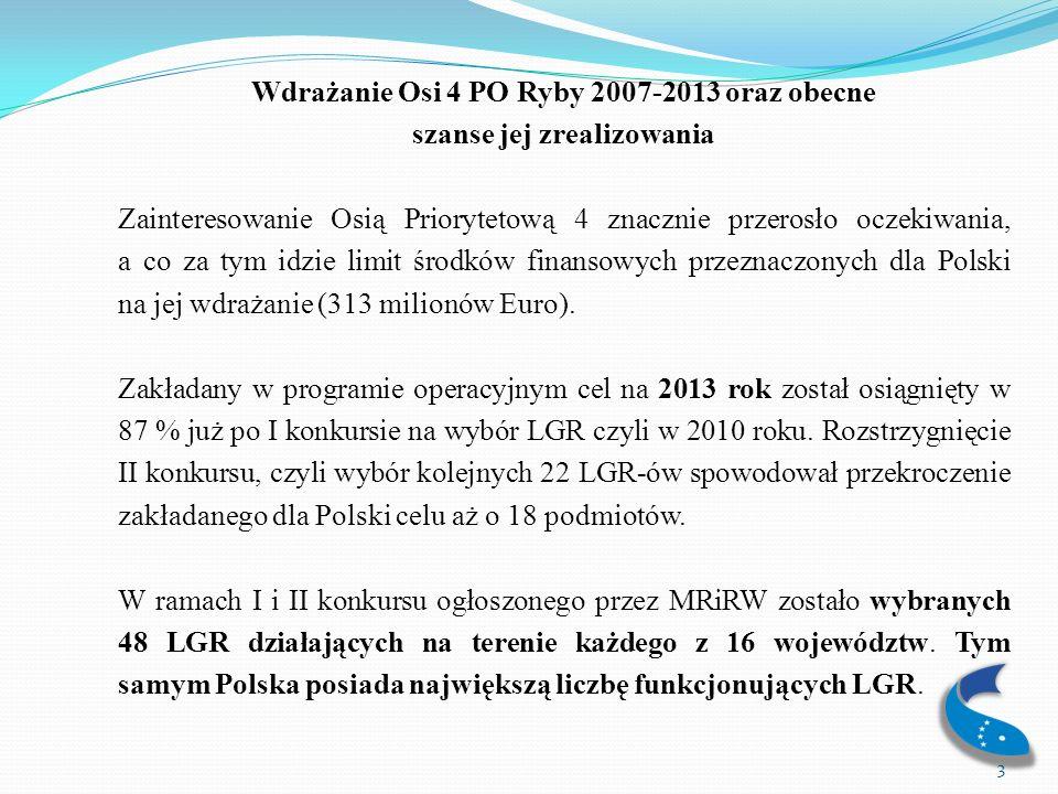 Wdrażanie Osi 4 PO Ryby 2007-2013 oraz obecne szanse jej zrealizowania